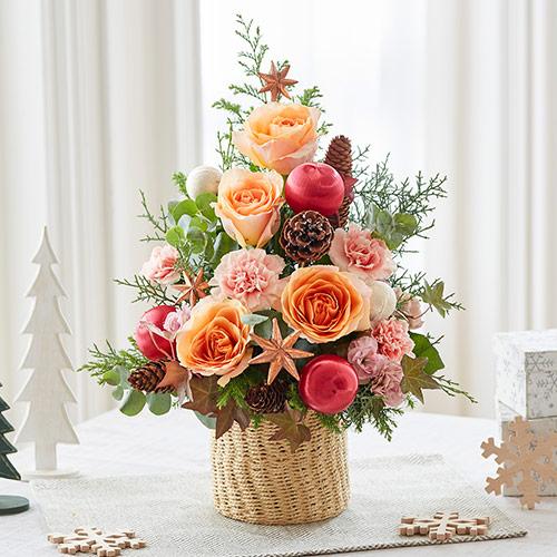 【日比谷花壇】クリスマス アレンジメント「ローズロマンセ」