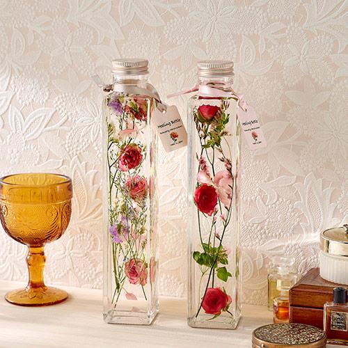 〈日比谷花壇〉Healing Bottle「Thanks with Flowers」(2本セット)【沖縄届不可】