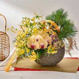 【日比谷花壇】お正月 デザイナーズアレンジメント「輝きの華」