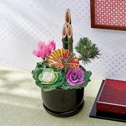 【日比谷花壇】お正月 寄せ植え「鶴の舞」