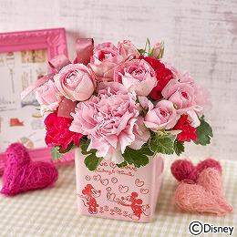 日比谷花壇【日比谷花壇】ディズニーアレンジメント「Love Love Pink(ミッキー&ミニー)」