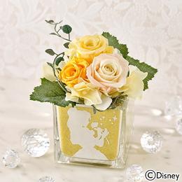 〈日比谷花壇〉ディズニー カラーサンド プリザーブドフラワー 「ベル」