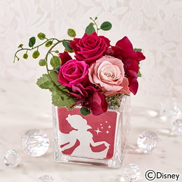〈日比谷花壇〉ディズニー カラーサンド プリザーブドフラワー 「白雪姫」