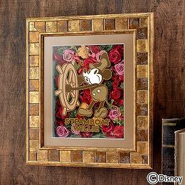 【日比谷花壇】ディズニー フラワーフレームアート「蒸気船ウィリー」