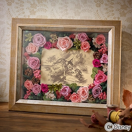 〈日比谷花壇〉ディズニー フラワーフレームアート「バンビ」