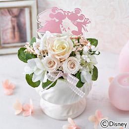 〈日比谷花壇〉ディズニー プリザーブド&アーティフィシャルアレンジメント「ミッキー&ミニー HAPPY WEDDING」