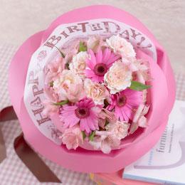 日比谷花壇【日比谷花壇】バラの形の花束ペタロ・ローザ「ハッピーバースデー」