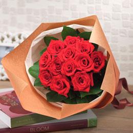 【日比谷花壇】花束「1ダースのバラ(レッド)」