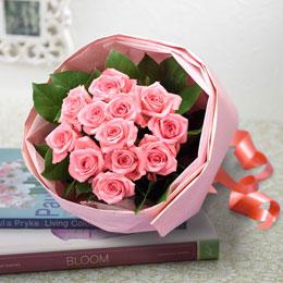 【日比谷花壇】花束「1ダースのバラ(ピンク)」
