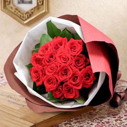 〈日比谷花壇〉花束「ローテローゼ」