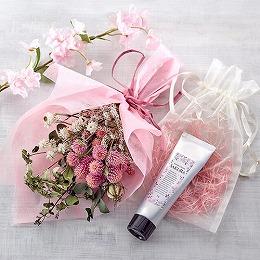 日比谷花壇【日比谷花壇】桜のハンドクリームとドライスワッグのセット