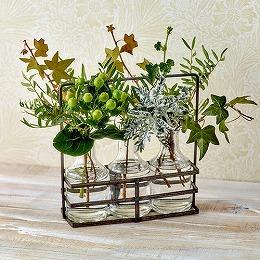 【日比谷花壇】飾って楽しむ「ヴェール クレール」(フラワーベース付き)