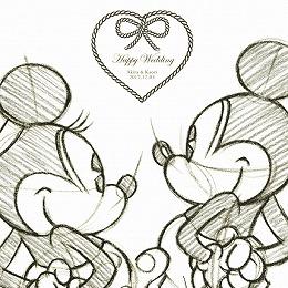 <日比谷花壇>ディズニー ウェルカムボード「記念のスケッチ」(ミッキー&ミニー)