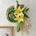【日比谷花壇】お正月 しめ飾り「百合の宴」