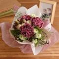 【日比谷花壇】【お供え用】O・SO・NA・E flower 「12月のそのまま飾れるブーケ」