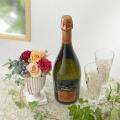 【日比谷花壇】スパークリングワインとプリザーブドフラワーのセット