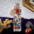【日比谷花壇】Bottle Heart「Halloween Orange」パンプキンチャーム付き【沖縄届不可】